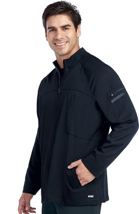 Clearance iMPACT by Grey's Anatomy™ Men's Ascent Zip Front Solid Scrub Jacket