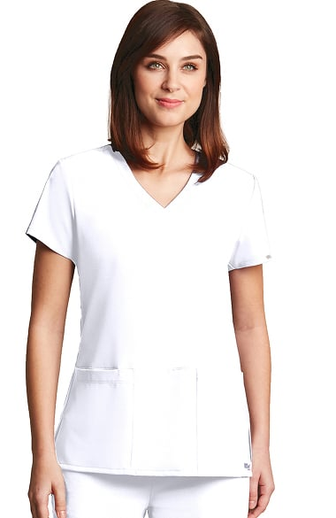 Signature by Grey's Anatomy Women's V-Neck Solid Scrub Top