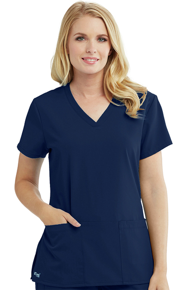 61ee0f3087d Signature by Grey's Anatomy™ Women's V-Neck Solid Scrub Top ...