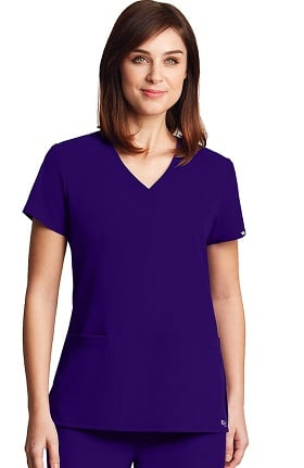 Signature by Grey's Anatomy™ Women's V-Neck Solid Scrub Top