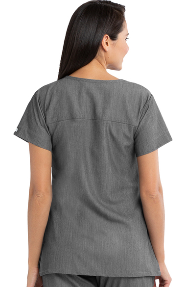 d1e180a386c Signature by Grey's Anatomy™ Women's Notch Neck Solid Scrub Top ...
