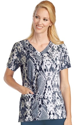 Signature by Grey's Anatomy™ Women's V-Neck Animal Print Scrub Top