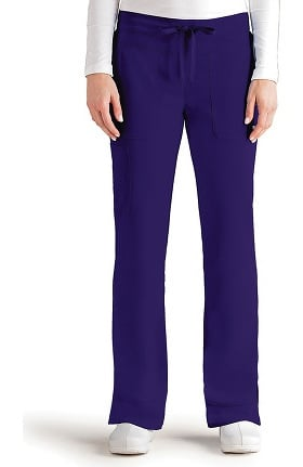 Clearance Signature by Grey's Anatomy Women's Straight Leg Cargo Scrub Pant