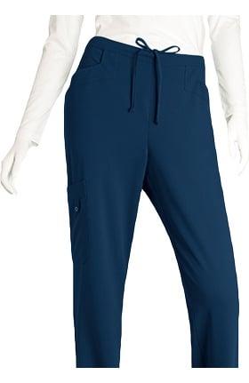 Signature by Grey's Anatomy™ Women's Half-Elastic Waist Cargo Scrub Pant