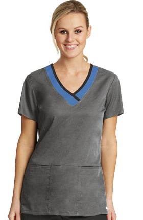 Active by Grey's Anatomy™ Women's Laser Cut V-Neck Solid Scrub Top