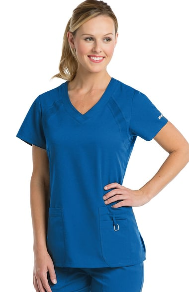 active by grey s anatomy women s v neck solid scrub top