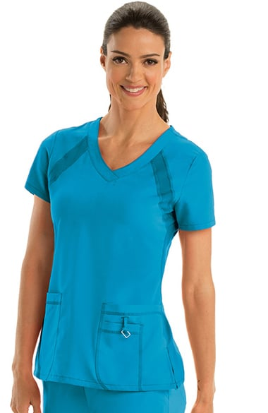 Active by Grey s Anatomy™ Women s V-Neck Solid Scrub Top  cb0e6a9c3114
