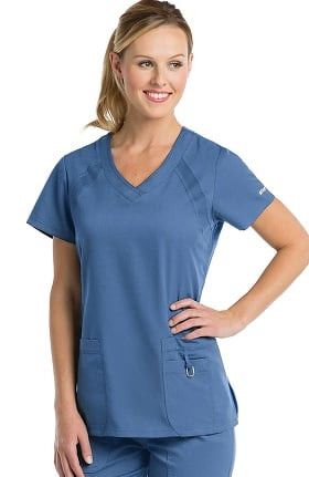 Clearance Active by Grey's Anatomy™ Women's V-Neck Solid Scrub Top