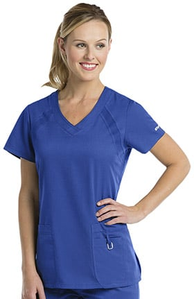 Clearance Grey's Anatomy Classic Women's V-Neck Solid Scrub Top