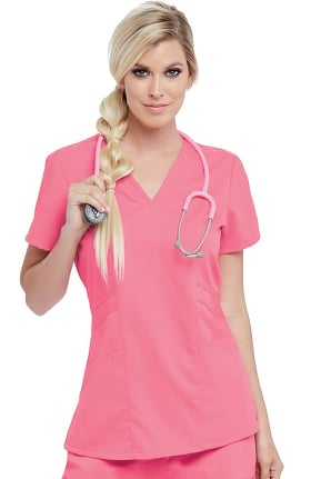 Grey's Anatomy Classic Women's V-Neck Solid Scrub Top