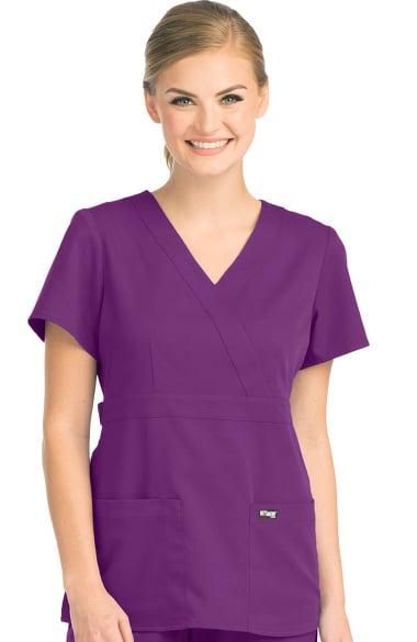 2c54a52c5d0 Grey's Anatomy™ Women's Mock Wrap Solid Scrub Top | allheart.com