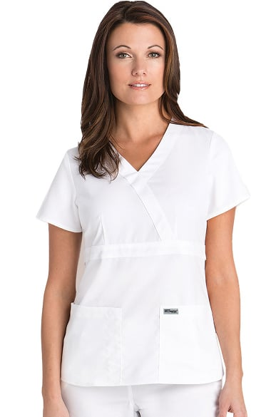 074426fe663 Grey's Anatomy™ Classic Women's Mock Wrap Solid Scrub Top. Play Video