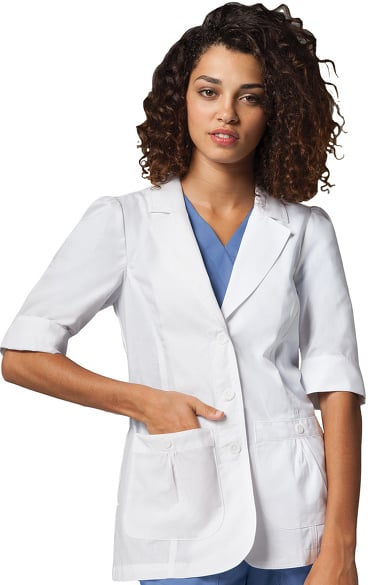 Lab Coats by Barco Uniforms Women's Short Sleeve 28