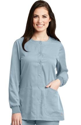 Grey's Anatomy Classic Women's Round Neck Warm Up Scrub Jacket