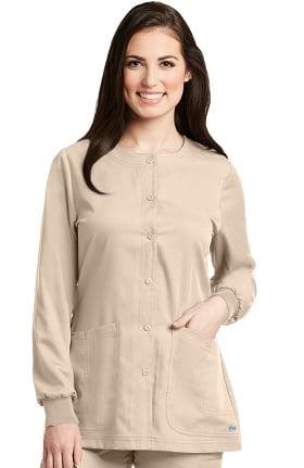 Clearance Grey's Anatomy Classic Women's Round Neck Warm Up Scrub Jacket