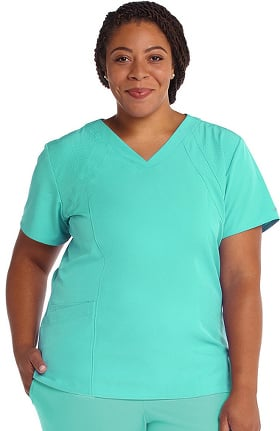 Clearance Barco One Women's V-Neck Solid Scrub Top