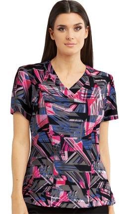 Barco One Women's Digital Dreams Print Scrub Top