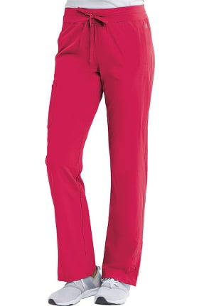 Barco One Women's Knit Waistband Cargo Track Scrub Pant