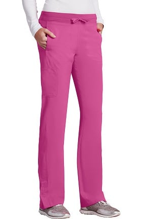Clearance Barco One™ Women's Knit Waistband Cargo Track Scrub Pant