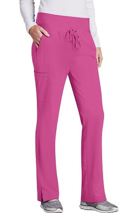Clearance Barco One™ Women's Flare Leg Knit Waistband Cargo Scrub Pant