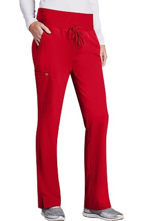 Clearance Barco One Women's Flare Leg Knit Waistband Cargo Scrub Pant