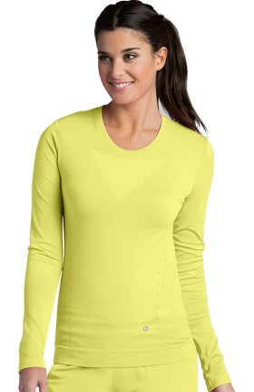 Clearance Barco One Women's Long Sleeve Seamless Solid T-Shirt
