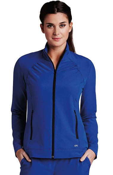 0e92b83535cd27 Barco One™ Women s Stand Collar Zip Up Solid Scrub Jacket