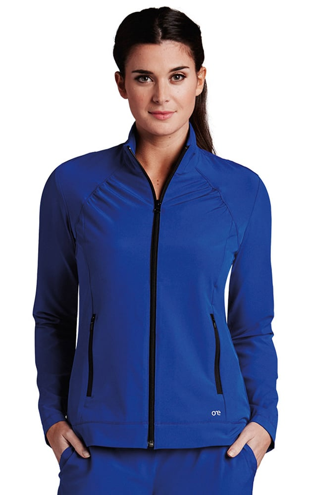 b642f4a6911 Barco One™ Women s Stand Collar Zip Up Solid Scrub Jacket