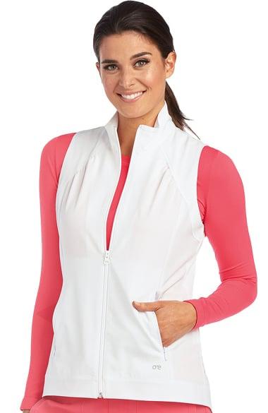 Barco One Women's Zip Front Solid Scrub Vest
