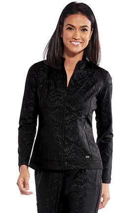Barco One Women's Endure Textured Solid Scrub Jacket