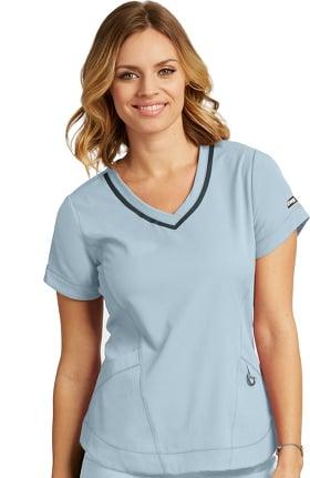 iMPACT by Grey's Anatomy Women's Seamed V-Neck Solid Scrub Top