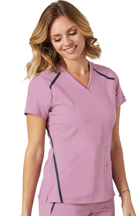 Clearance iMPACT by Grey's Anatomy Women's V-Neck Solid Scrub Top