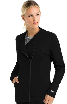 iMPACT by Grey's Anatomy™ Women's Asymmetric Zip Solid Scrub Jacket