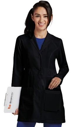 "Clearance KD110 Women's Kenzie Shirred Waist 32"" Lab Coat"
