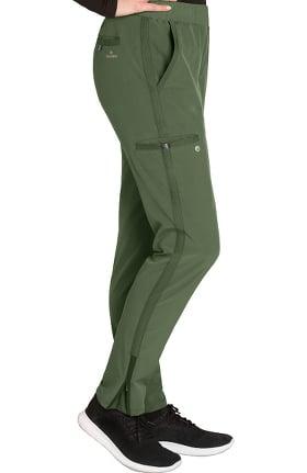 Clearance Wellness by Barco One Women's Flat Waistband Cargo Trouser Scrub Pant