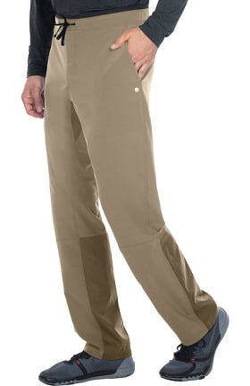 Clearance Wellness by Barco One Men's Drawstring Zip Fly Cargo Scrub Pant