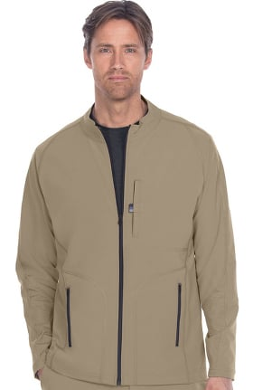 Wellness by Barco One Men's Zip Front Solid Scrub Jacket