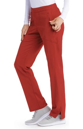 Signature by Grey's Anatomy Women's Flat Front Trouser Ankle Scrub Pant