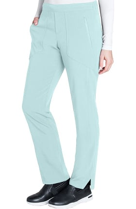 Clearance Signature by Grey's Anatomy Women's Flat Front Trouser Ankle Scrub Pant