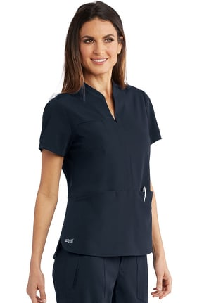 Clearance Signature by Grey's Anatomy Women's Skyler Solid Scrub Top