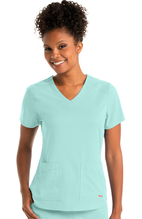 Spandex Stretch by Grey's Anatomy Women's V-Neck Solid Scrub Top
