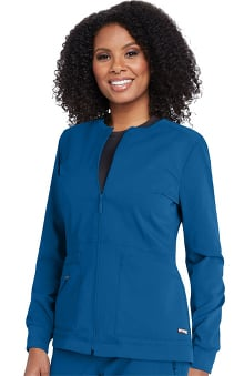 Spandex Stretch by Grey's Anatomy Women's Millie Solid Scrub Jacket