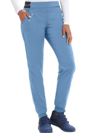 Spandex Stretch by Grey's Anatomy Women's Logo Waist Jogger Scrub Pant