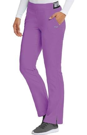Spandex Stretch by Grey's Anatomy Women's Logo Waist Boot Cut Scrub Pant