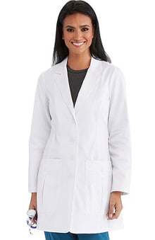 "B1 Team by Barco Uniforms Women's 34"" 2 Pocket Back Belted Lab Coat"