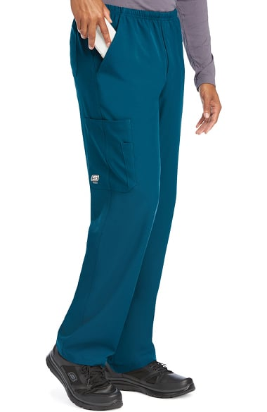 Skechers Men's Structure Elastic Waistband Zip Fly Scrub Pant