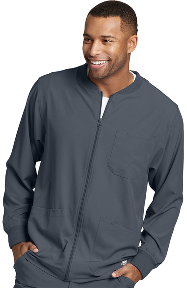 Skechers Men's Structure Zip Front Solid Sport Scrub Jacket