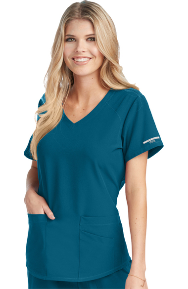 Skechers Women's Vitality V-Neck Solid Scrub Top