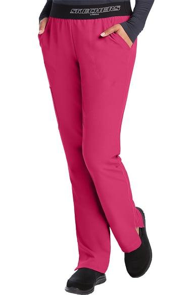 Skechers Women's Vitality Logo Elastic Waistband Scrub Pant