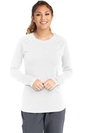 Skechers Women's True Tee Long Raglan Sleeve Solid Underscrub T-Shirt